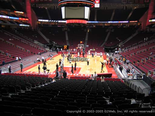 Seat view from section 126 at the Toyota Center, home of the Houston Rockets