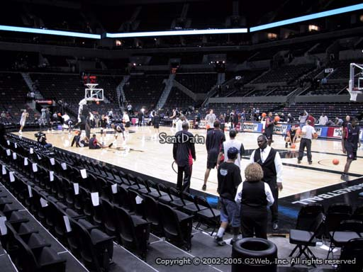 Seat view from Section 18 at the AT&T Center, home of the San Antonio Spurs