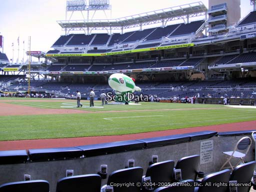 Seat view from section 8 at Petco Park, home of the San Diego Padres