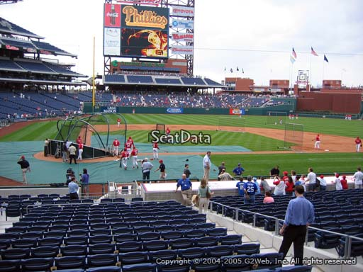 Seat view from section G at Citizens Bank Park, home of the Philadelphia Phillies