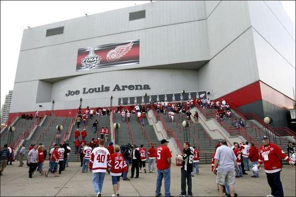 Exterior view of Joe Louis Arena, Home of the Detroit Red Wings