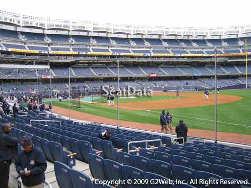 Seat view from section 12 at Yankee Stadium, home of the New York Yankees