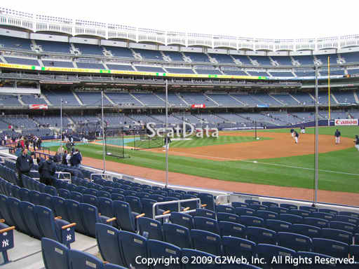 Seat view from section 13 at Yankee Stadium, home of the New York Yankees