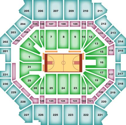 Barclays Center Seating Chart, Brooklyn Nets.