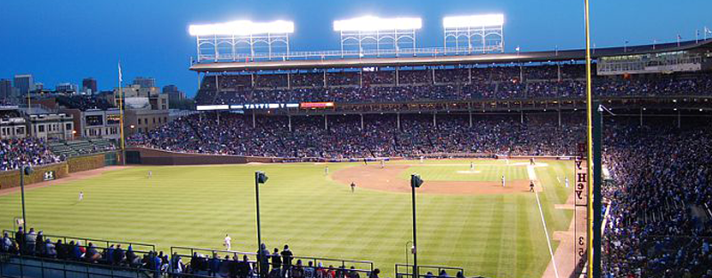 View of Wrigley Field from the Beyond The Ivy Rooftop - 1038 Waveland.