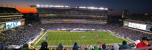 Photo of the field at Lincoln Financial Field, home of the Philadelphia Eagles.