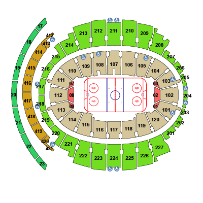 Madison Square Garden Seating Chart, New York Rangers.