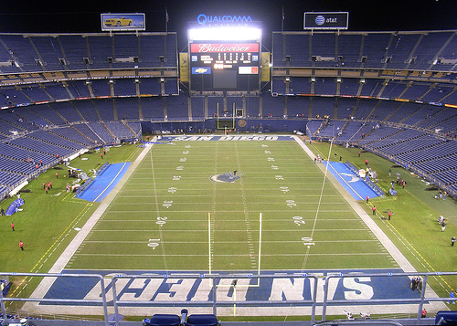 Qualcomm Stadium, home of the San Diego Chargers.