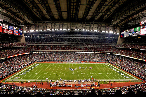 Photo of NRG Stadium, home of the Houston Texans.