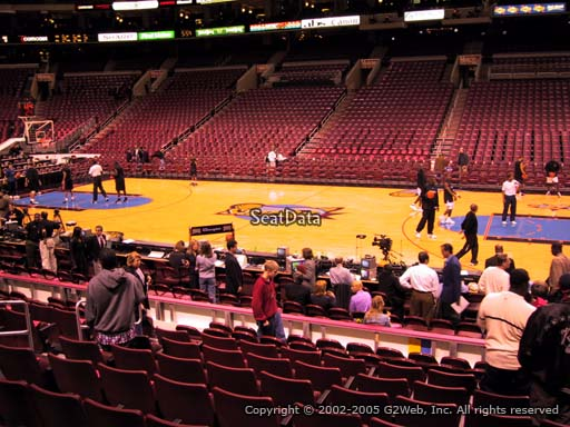 Seat view from section 102 at the Wells Fargo Center, home of the Philadelphia 76ers