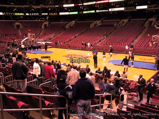 Seat view from section 103 at the Wells Fargo Center, home of the Philadelphia 76ers