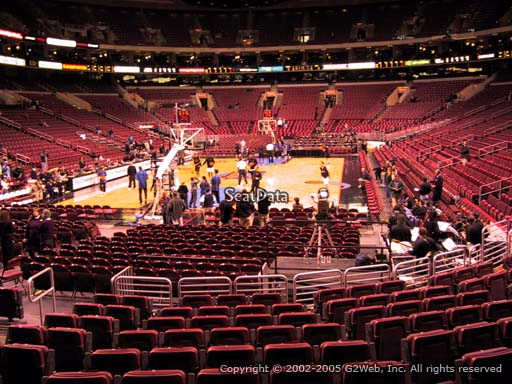 Seat view from section 108 at the Wells Fargo Center, home of the Philadelphia 76ers