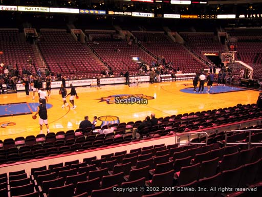 Seat view from section 112 at the Wells Fargo Center, home of the Philadelphia 76ers