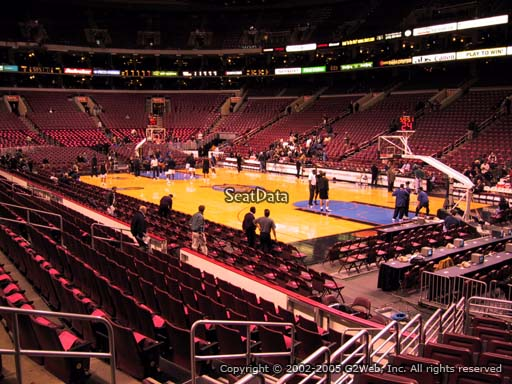 Seat view from section 116 at the Wells Fargo Center, home of the Philadelphia 76ers