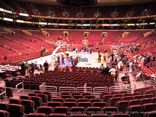 Seat view from section 120 at the Wells Fargo Center, home of the Philadelphia 76ers