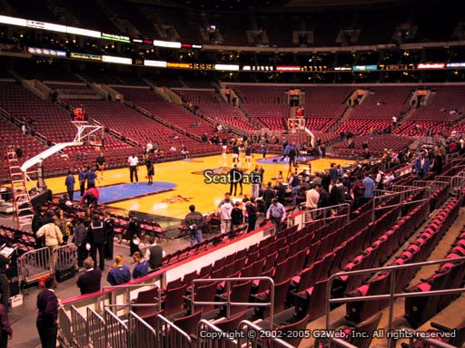 Seat view from section 122 at the Wells Fargo Center, home of the Philadelphia 76ers