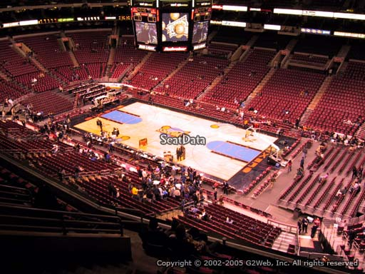 Seat view from section 204 at the Wells Fargo Center, home of the Philadelphia 76ers