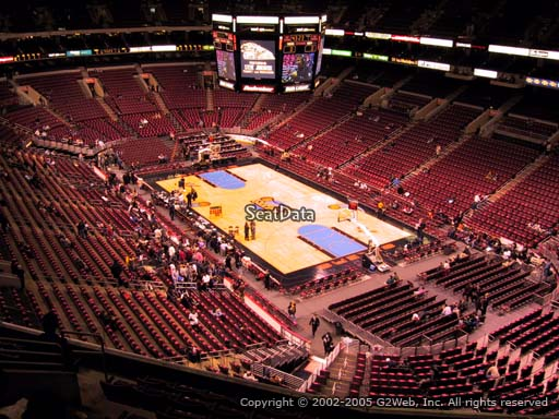 Seat view from section 205 at the Wells Fargo Center, home of the Philadelphia 76ers