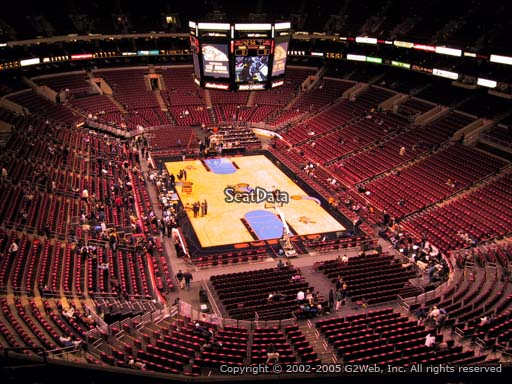 Seat view from section 206 at the Wells Fargo Center, home of the Philadelphia 76ers