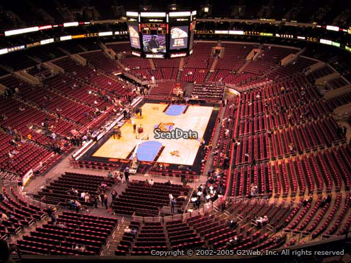 Seat view from section 208 at the Wells Fargo Center, home of the Philadelphia 76ers