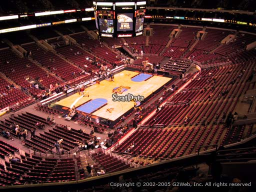 Seat view from section 209A at the Wells Fargo Center, home of the Philadelphia 76ers