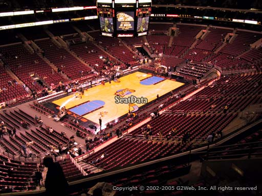 Seat view from section 210 at the Wells Fargo Center, home of the Philadelphia 76ers