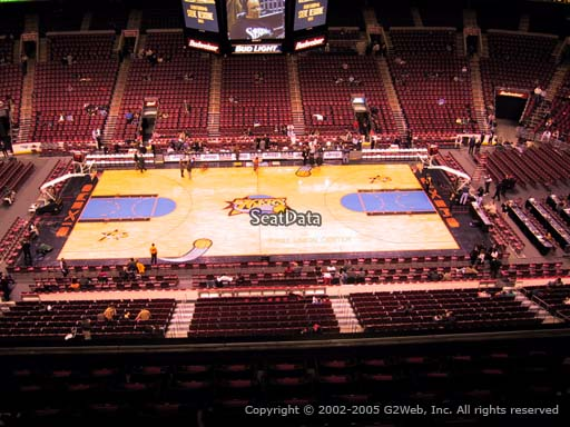 Seat view from section 213 at the Wells Fargo Center, home of the Philadelphia 76ers