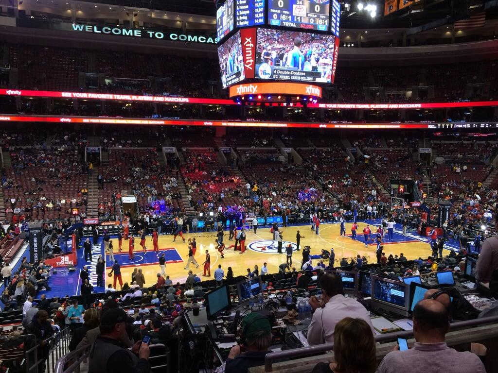 Seat view from Club Box 12 at the Wells Fargo Center, home of the Philadelphia 76ers