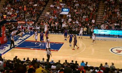 Seat view from Club Box 13 at the Wells Fargo Center, home of the Philadelphia 76ers
