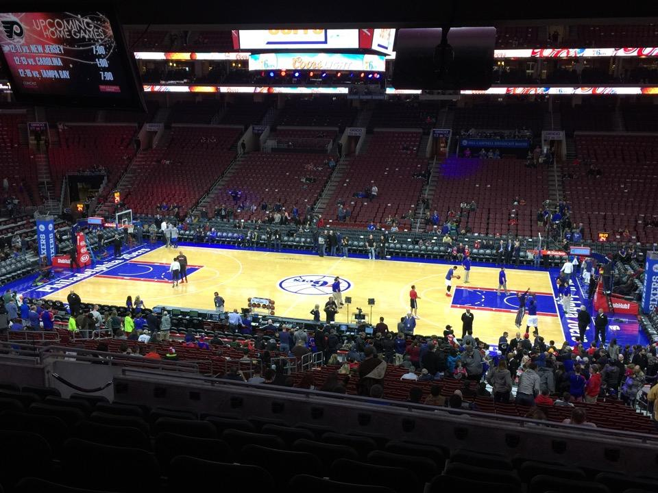 Seat view from Club Box 2 at the Wells Fargo Center, home of the Philadelphia 76ers