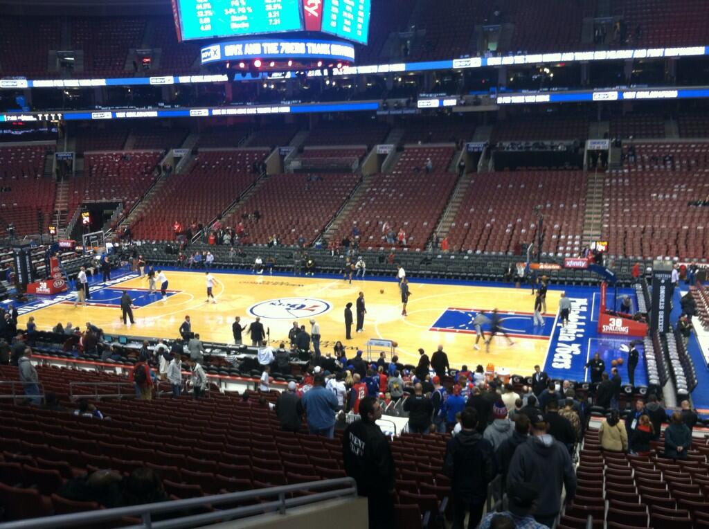 Seat view from Club Box 3 at the Wells Fargo Center, home of the Philadelphia 76ers