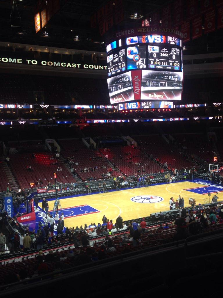 Seat view from PS 22 at the Wells Fargo Center, home of the Philadelphia 76ers