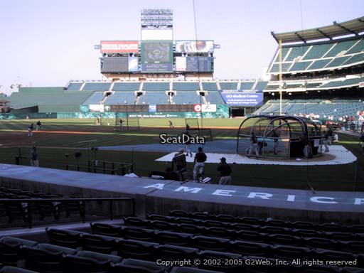Seat view from section 114 at Angel Stadium of Anaheim, home of the Los Angeles Angels of Anaheim