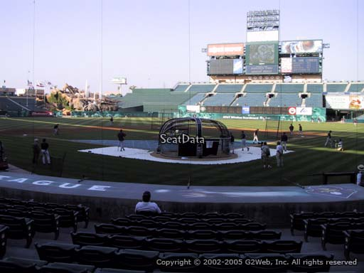 Seat view from section 117 at Angel Stadium of Anaheim, home of the Los Angeles Angels of Anaheim