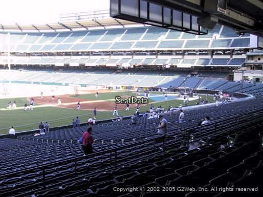 Seat view from section 207 at Angel Stadium of Anaheim, home of the Los Angeles Angels of Anaheim