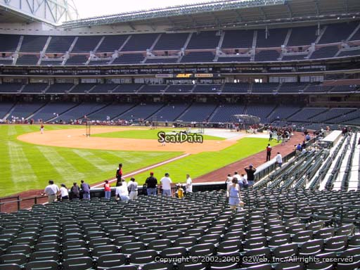 Seat view from section 106 at Minute Maid Park, home of the Houston Astros