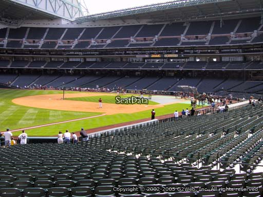 Seat view from section 107 at Minute Maid Park, home of the Houston Astros