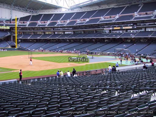Seat view from section 110 at Minute Maid Park, home of the Houston Astros