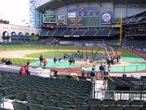 Seat view from section 116 at Minute Maid Park, home of the Houston Astros