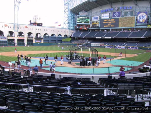 Seat view from section 118 at Minute Maid Park, home of the Houston Astros