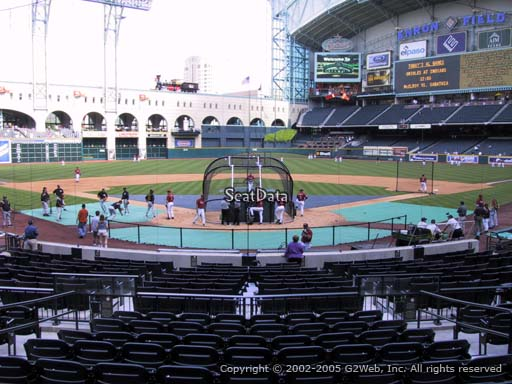 Seat view from section 119 at Minute Maid Park, home of the Houston Astros