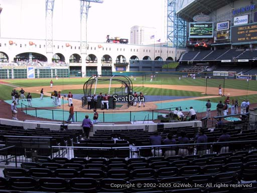 Seat view from section 120 at Minute Maid Park, home of the Houston Astros