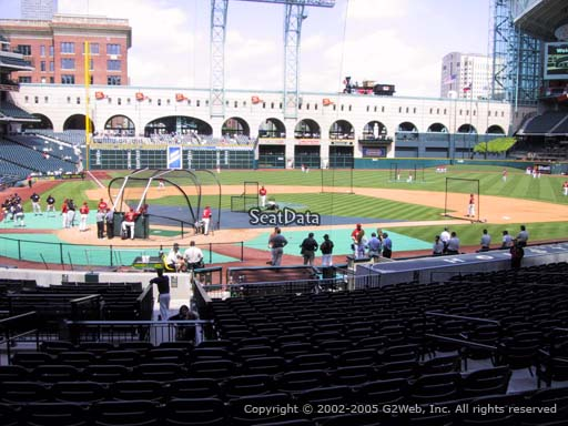 Seat view from section 122 at Minute Maid Park, home of the Houston Astros