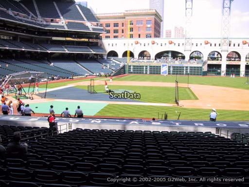 Seat view from section 125 at Minute Maid Park, home of the Houston Astros