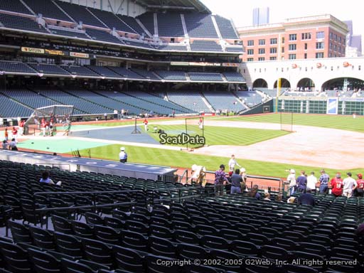 Seat view from section 127 at Minute Maid Park, home of the Houston Astros