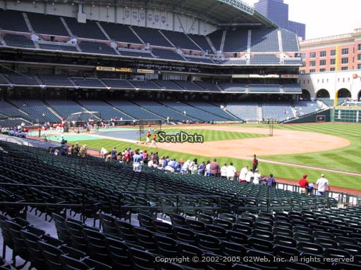 Seat view from section 129 at Minute Maid Park, home of the Houston Astros