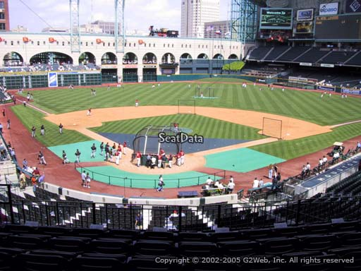 Seat view from section 220 at Minute Maid Park, home of the Houston Astros