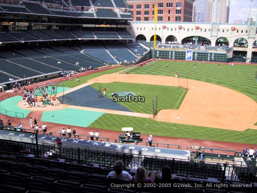 Seat view from section 226 at Minute Maid Park, home of the Houston Astros
