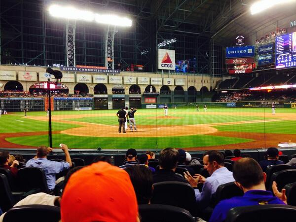View from the Diamond Club Seats at Minute Maid Park. Home of the Houston Astros.