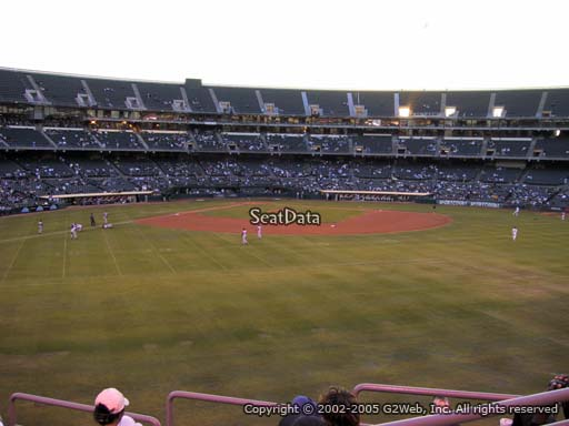 Seat view from section 146 at Oakland Coliseum, home of the Oakland Athletics